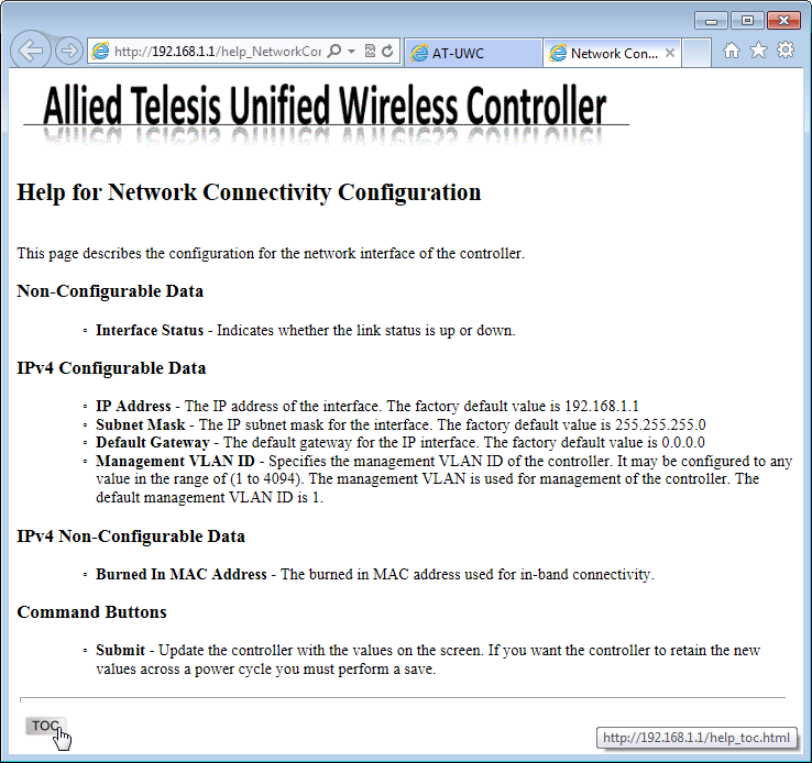Installation Guide Figure 30. AT-UWC WLAN Controller Online Help 3.