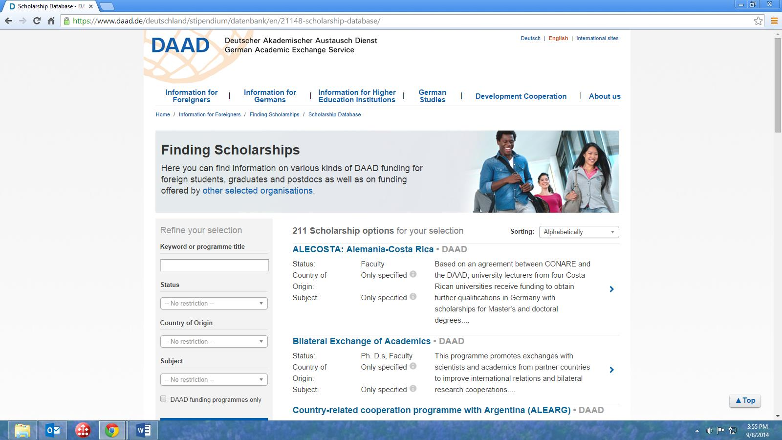 Guidelines for online application procedure Step 1 Go to www.funding guide.