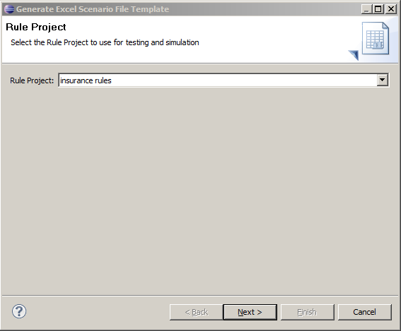 3. A new view, DVS Project Validation, opens in Rule Designer.