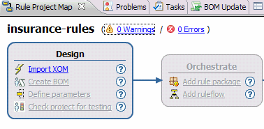 Figure 3-1 Creating a new rule project The new rule project is created in the Rule Designer, as shown in Figure 3-2. For now, the rule project contains only empty folders.