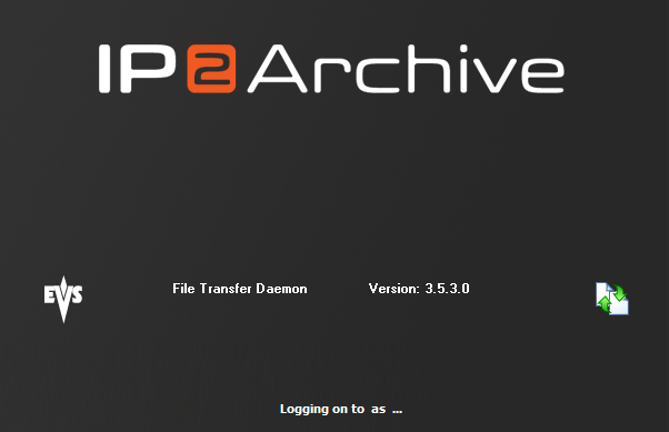EVS Broadcast Equipment S.A. - October 2012 Issue 3.5.D 2. Starting the Application 2.1. Start-up Procedure 2.1.1. After Installation Double-click the File Transfer Daemon icon on the desktop of the application server to start the application.