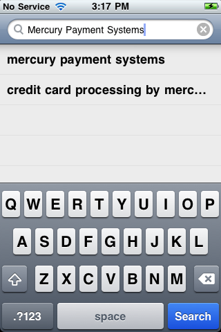 Introduction The Mercury VirtualTerminal iphone application is available via download from the itunes store.