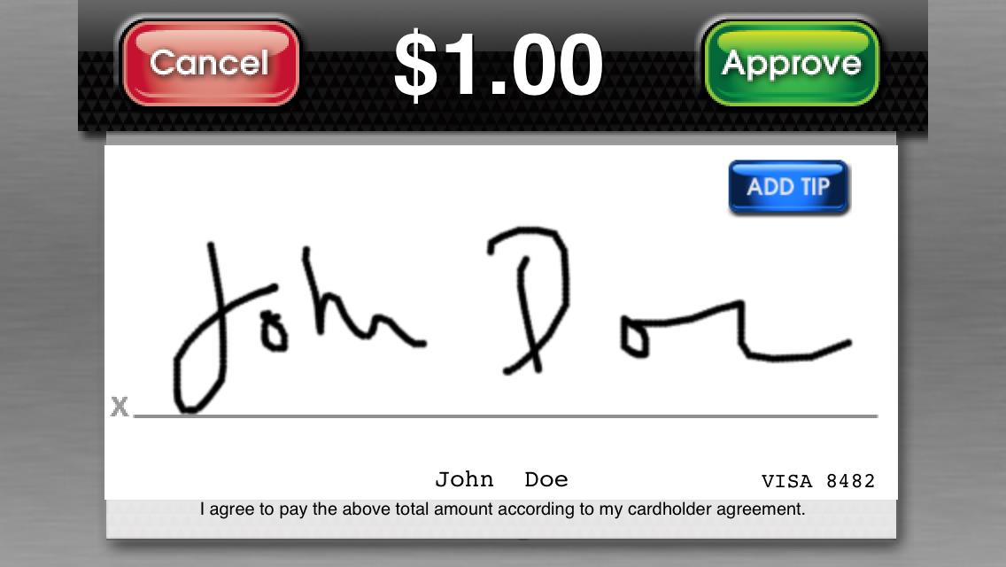13 21. Your customer will be prompted to sign for the transaction.