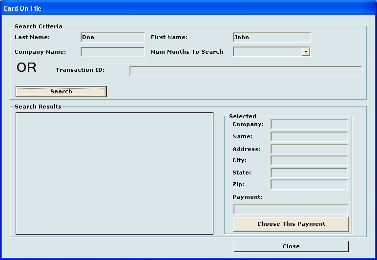 11 epn Card/Check On File Feature epncardonfile allows the merchant to use previously processed credit cards and check information from past approved transactions for current transactions.