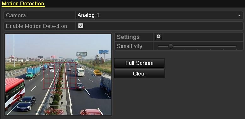3. Click to configure the motion detection settings. Select Arming Schedule tab and set arming schedule of the camera.
