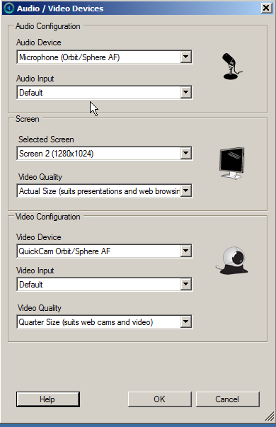 Setup/Configure 1. If this is your first time using Personal Capture, click on the Configure button located at the bottom of the window in order to set up your Microphone and Webcam.