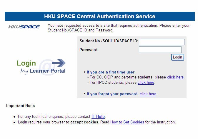 HKU SPACE Community College Instructions for Using Online