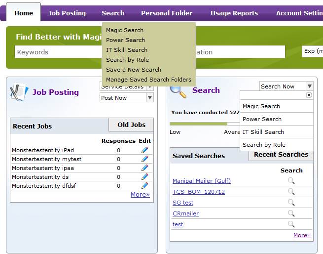 Resume Search Search resumes using any of the search tools