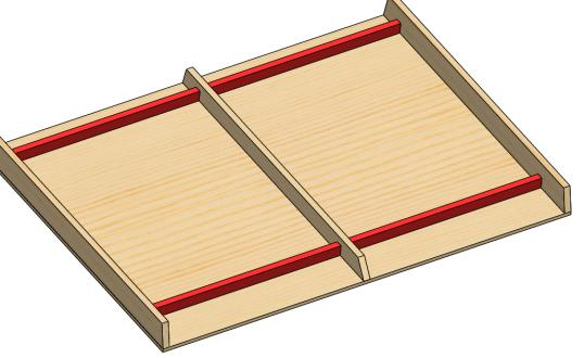 You can use (4) of the Lower Hurdles to help verify the board is properly centered and straight. Do not screw these Hurdles in place yet.