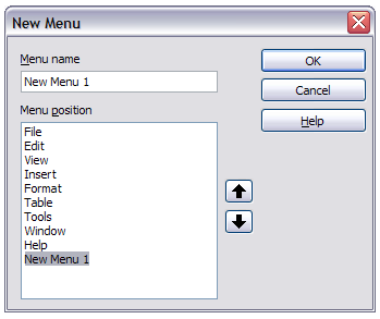 example, in addition to File, Edit, View, and so on, there is File Send and File Templates. The commands available for the selected menu are shown in the central part of the dialog.