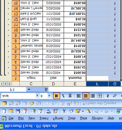 Make sure the column containing all the first digits is selected. Click on Data on the top menu and then choose Subtotals. In the next Subtotal window, you will see a box labeled Use Function.