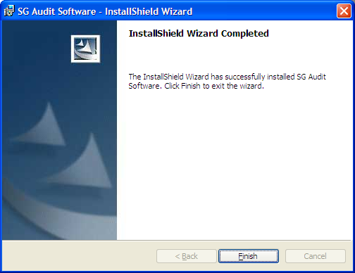Installing the SG Audit Software (continued) 9.