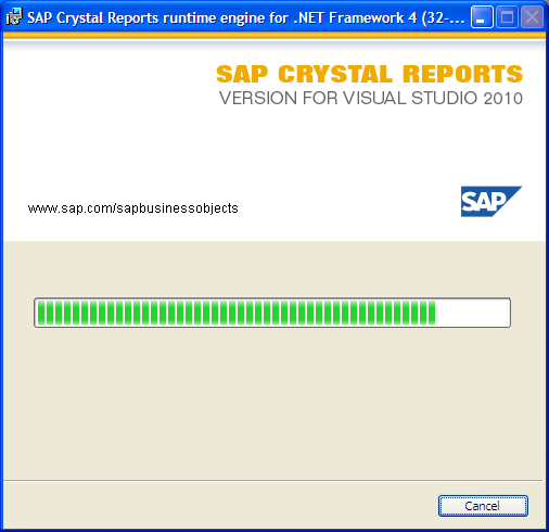 Installing Crystal Reports 13.0 (continued) 4. A new window will appear prompting if you are ready to begin the installation. Simply click Next to continue.