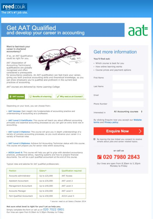 Search: Landing Page Relevance Accountancy