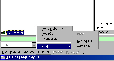 Figure 15. Addressing the Unit Controller Board Now follow these steps: 1. Select the network (BACnetwork) then click on the Network menu (see Figure 16). Figure 16. Select BACnetwork then select Network 2.