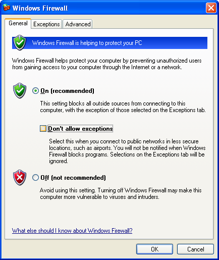 7 3. Windows Firewall dialog box will appear on the screen. 4.
