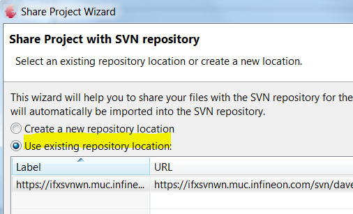 Import the project to a SVN Repository Step6: Right Click Project,