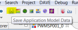 Version Control of the DAVE Generated Code DAVE will generate the code from the files stored in the model folder by utilizing the device model of the chosen device that is in the local library store
