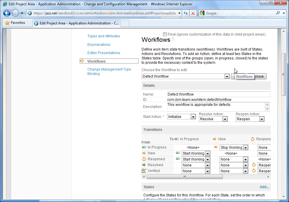 4 Configuration and Change Management All the activities in this section are performed using the Eclipse client. 4.