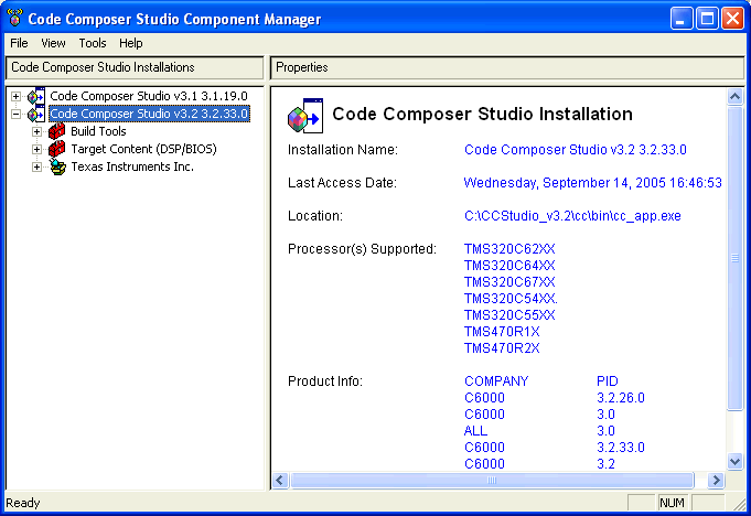 Component Manager 7.1 Component Manager Note: The Component Manager is an advanced tool used primarily to customize or modify your installation.
