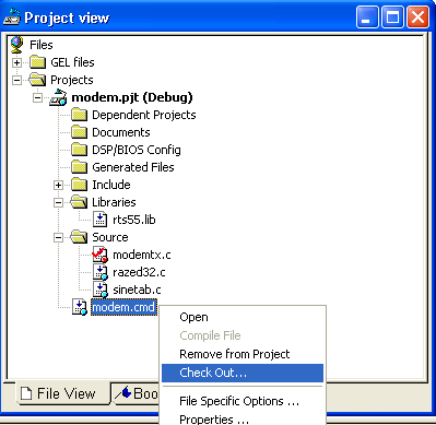 Configuring Projects Note: Limitations and Restrictions: Source files can be added to or removed from the project in the Project View.