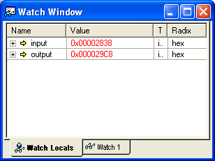 Basic Debugging 5.2.4 Watch Window 5.2.4.1 Using Watch Window to Track a Variable's Value When debugging a program, it is useful to see how the value of a variable changes during program execution.