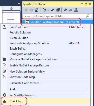 6. When a solution is under source control, Visual Studio will indicate the status of files by adding a glyph, such as the plus signs that indicate which files have been added, but not yet checked in.