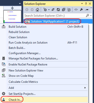 11. In Solution Explorer, right-click the solution node and select Check