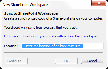 that allows you to work on your SharePoint files offline and then sync those files with SharePoint once you have internet connectivity.