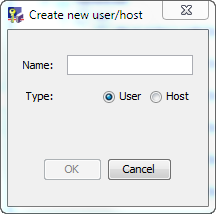 Managing Licenses 2. Right-click in the space below User/Host Definition and select the Add command to create a User or Host.