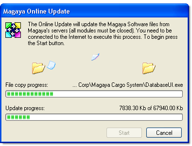 UPDATE MAGAYA SOFTWARE 3) Stop the Magaya Communication Server Agent by right-clicking on the icon in the taskbar and selecting Stop Communication Server. Then right-click again and select Exit.