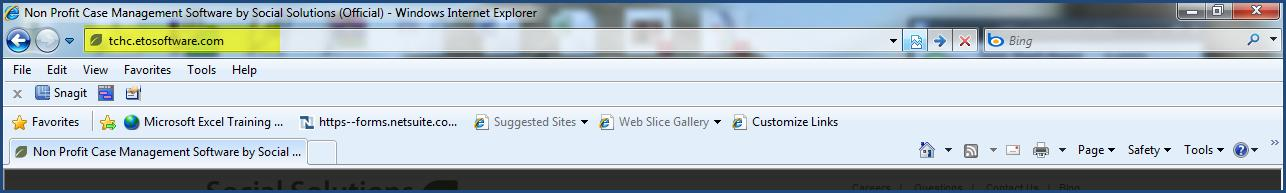 Logging into ETO Step 1 Open your Explorer Browser Step 2 Type your ETO URL into the Explorer Address Bar. (i.e. xxxxxx.etosoftware.