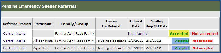 Step 2 You will see two options. The first is to view the pending referrals from A different Site within my Enterprise.