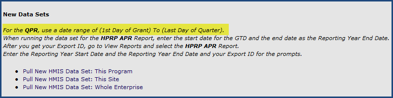 Step 2 Once the Data Set is created, click the QPR from the list. Step 3 The QPR runs in Crystal Reports.
