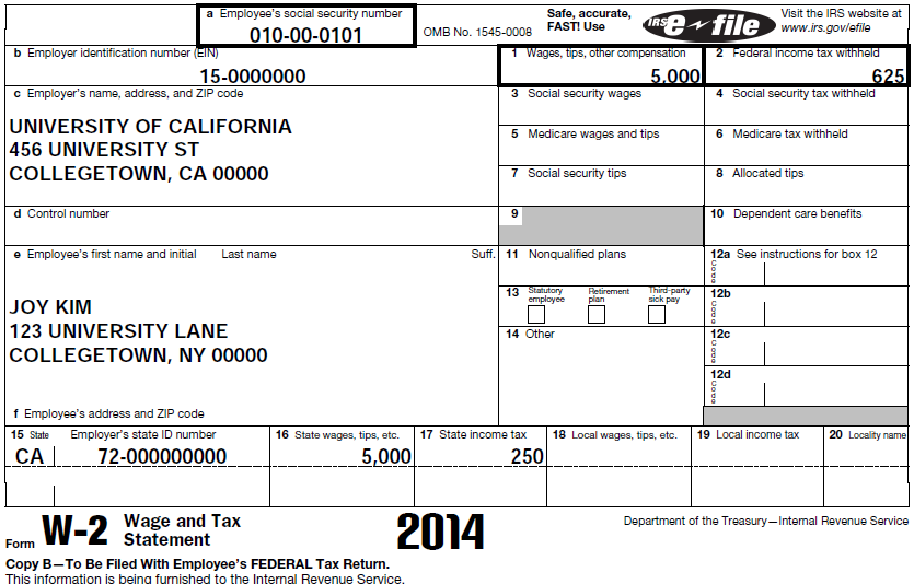 FORM W-2 Used for