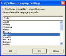 Changing LinQ Software Language Settings When you change the LinQ software language settings on your laptop, LinQ software dialog boxes change to accommodate your selected language.