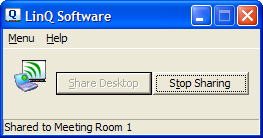 Stop Sharing Your Desktop You can stop sharing your desktop from either the LinQ Software dialog box on your laptop or the Mobile Device Manager window on the interactive product.