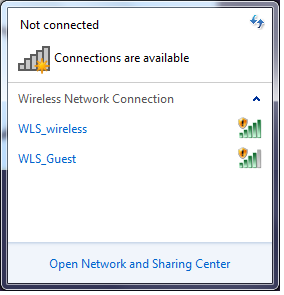 Not Connecting to WLS_wireless Network If you see the screen below, this means you are not connecting to the law school wireless network.