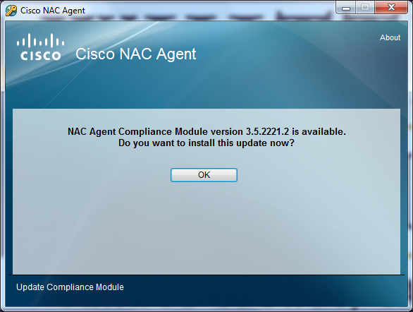 12) You should see Cisco NAC Agent was successfully installed!