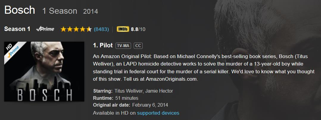 1 2 3 4 Content Production & Global Sales Outstanding premiere of Harry Bosch pilot on Amazon