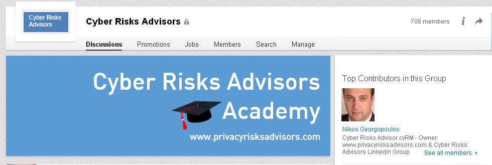 Cyber Risks Advisors Linkedin Group Nikos Georgopoulos Privacy