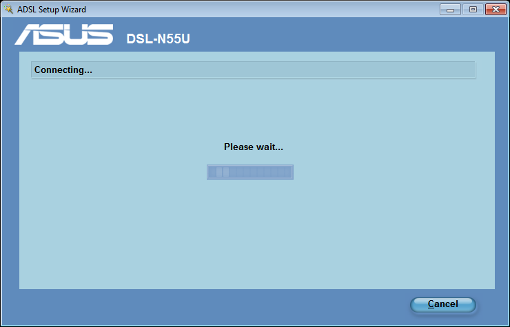 3. Key in the ADSL router s default user name admin and password admin, then click Next. 4.