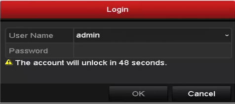 Login and Logout User Login Purpose: If NVR has logged out, you must login the device before operating the menu and other functions. Steps: 1. Select the User Name in the dropdown list. 2.