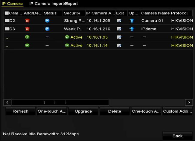 Explanation of the icons Icon Explanation Icon Explanation Edit basic parameters of the camera The camera is disconnected; you can click the icon to get the exception information of camera.