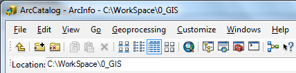 Managing Data with ArcCatalog Using ArcCatalog: Copying and working with GIS data file formats can easily be accomplished with ArcGIS s ArcCatalog application.