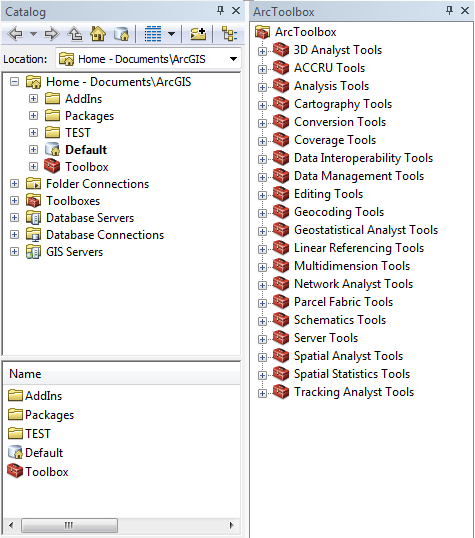 ArcCatalog ArcToolbox ArcView 10, ArcEditor 10, and ArcInfo 10 are also called ArcGIS Desktop 10 the user interfaces are exactly the same but the level of functionality and amount of analysis tools