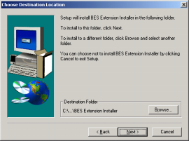 5. If you agree to the terms of the license agreement, click Yes. The MS Exchange Server Entry screen appears, as in Figure 7. Figure 7: MS Exchange Server Entry screen 6.