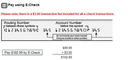 Paper Check: $3 fee per transaction. Please note that foreign checks are not accepted. Do I get an ID card?