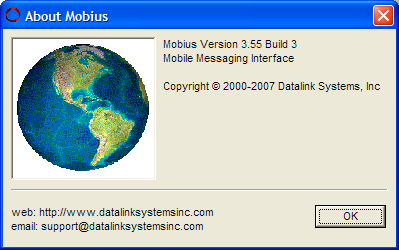 Mobius Manual (3.55) Page 10 4.0 Main Menu 4.1 File Menu Send File: Exit: 4.2 View Menu Select this option to send any file on the local PC to the server. Exit program.