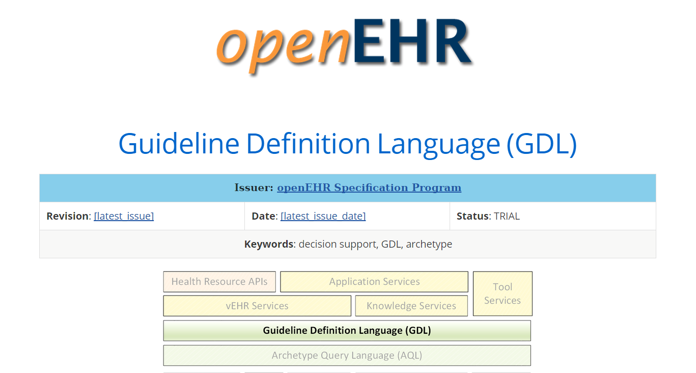 Updated GDL Design Specifications http://www.openehr.